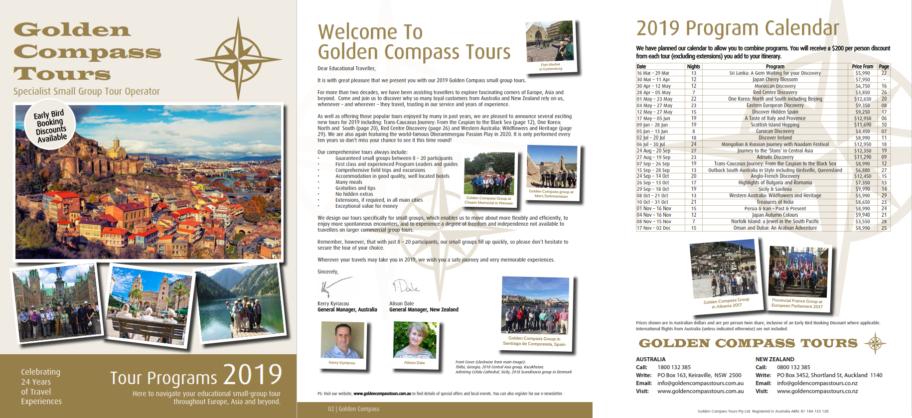 Click here to view our 2019 brochure