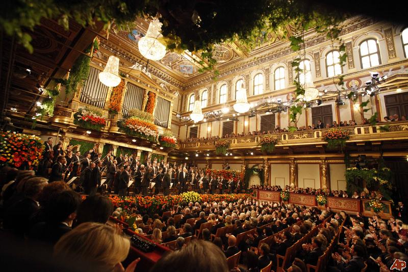 A concert at the Golden Hall in Vienna