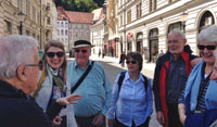small groups of like minded travellers on tour in Europe